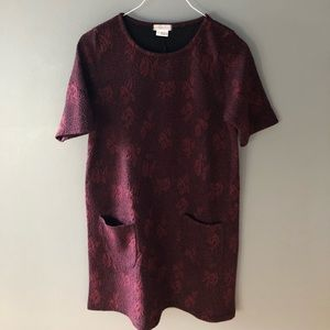 Urban Outfitters Dresses - UO red/black floral pattern t shirt dress
